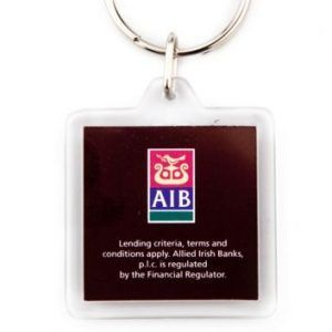 Acrylic 2 sides key-ring components CR-32