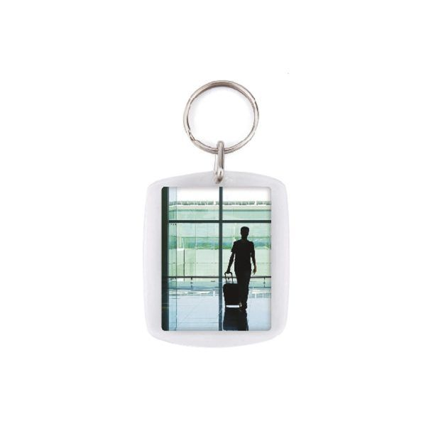 Acrylic 2 sides key-ring components CR-45
