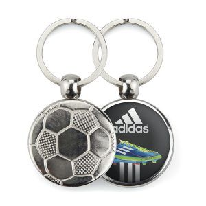 Metal 1 side football key-ring components MFT