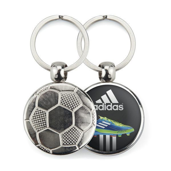 Metal 1 side football key-ring components MFT