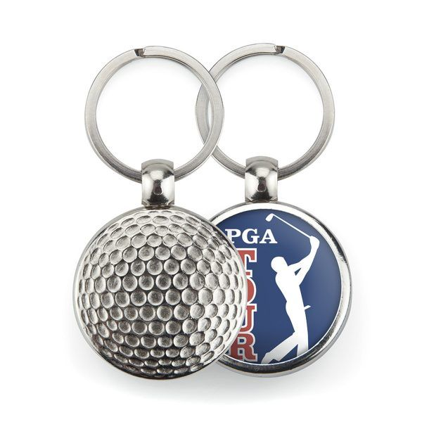 Metal 1 side golf key-ring components MGF