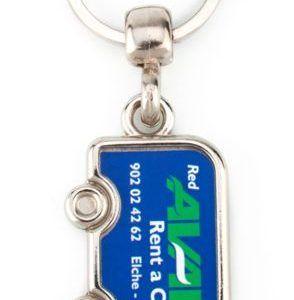 Metal 1 side Van key-ring components MV