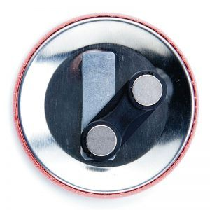75mm double-magnet badge components