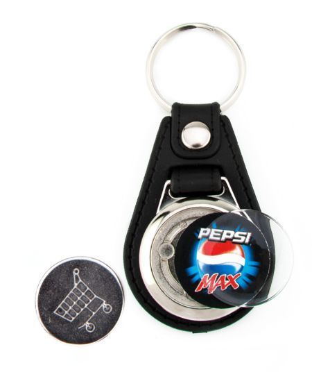 Synthetic leather 1 side key-ring components MD-25 CARRO