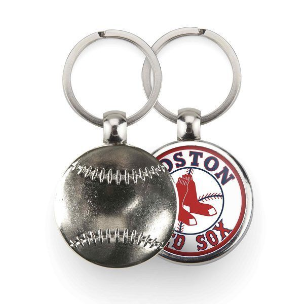 Metal 1 side baseball key-ring components MBB