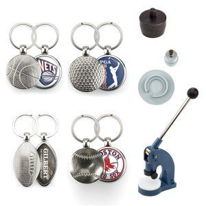 Key-rings Kit Baseball,basket,Golf and Rugby