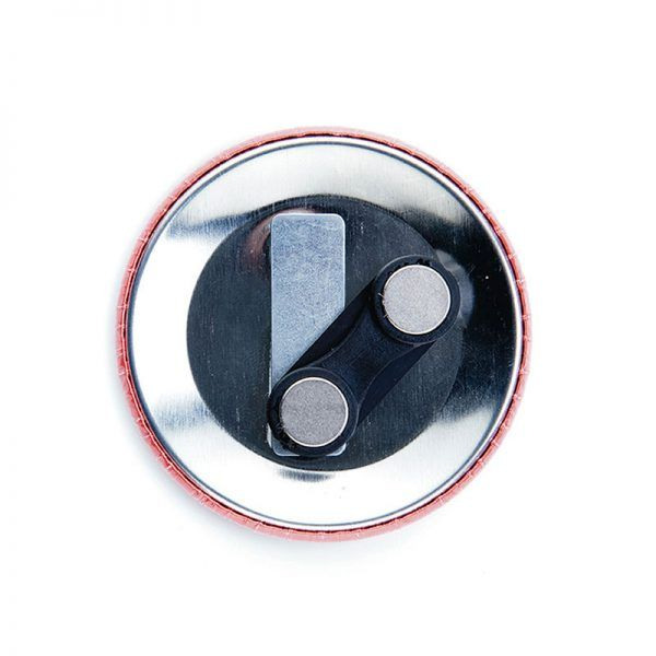 38mm double-magnet badge components